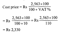 RD Sharma Class 8 Solutions Chapter 13 Profits, Loss, Discount and Value Added Tax (VAT)Ex 13.3 21
