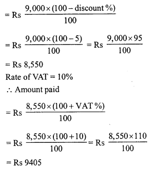 RD Sharma Class 8 Solutions Chapter 13 Profits, Loss, Discount and Value Added Tax (VAT)Ex 13.3 22