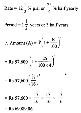 RD Sharma Class 8 Solutions Chapter 14 Compound InterestEx 14.2 16