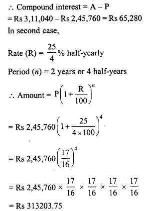 RD Sharma Class 8 Solutions Chapter 14 Compound InterestEx 14.2 21