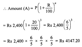 RD Sharma Class 8 Solutions Chapter 14 Compound InterestEx 14.2 8