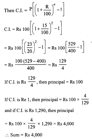 RD Sharma Class 8 Solutions Chapter 14 Compound InterestEx 14.3 10
