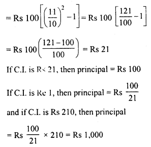RD Sharma Class 8 Solutions Chapter 14 Compound InterestEx 14.3 4