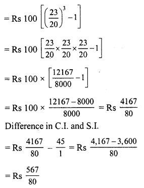 RD Sharma Class 8 Solutions Chapter 14 Compound InterestEx 14.3 8