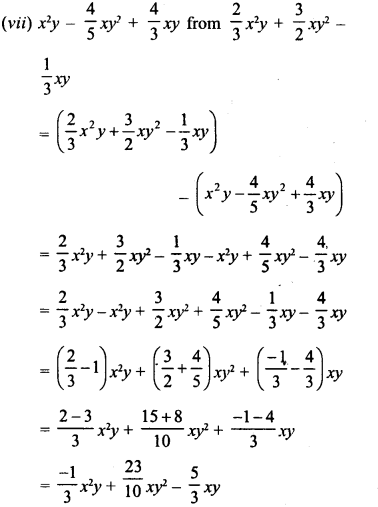 RD Sharma Class 8 Solutions Chapter 6 Algebraic Expressions and IdentitiesEx 6.2 10