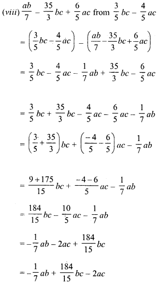 RD Sharma Class 8 Solutions Chapter 6 Algebraic Expressions and IdentitiesEx 6.2 11