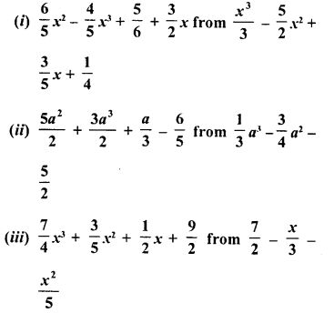 RD Sharma Class 8 Solutions Chapter 6 Algebraic Expressions and IdentitiesEx 6.2 12