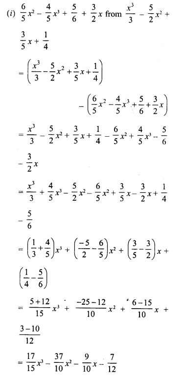 RD Sharma Class 8 Solutions Chapter 6 Algebraic Expressions and IdentitiesEx 6.2 14