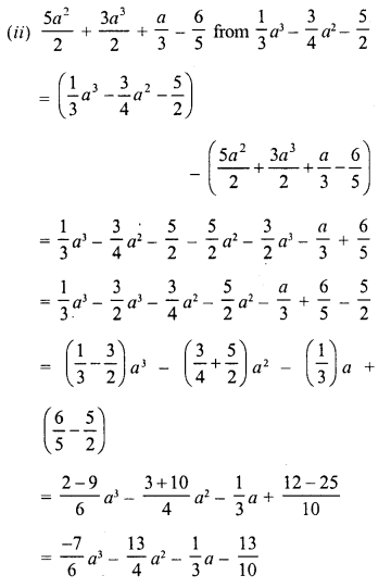 RD Sharma Class 8 Solutions Chapter 6 Algebraic Expressions and IdentitiesEx 6.2 15