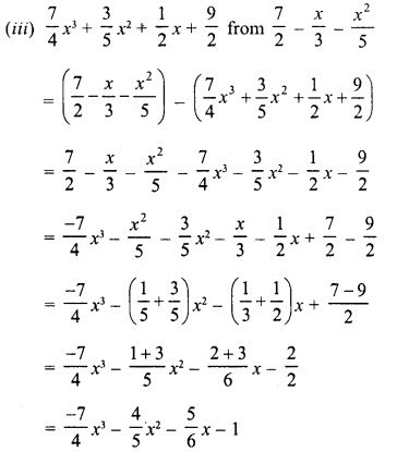 RD Sharma Class 8 Solutions Chapter 6 Algebraic Expressions and IdentitiesEx 6.2 16