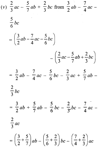 RD Sharma Class 8 Solutions Chapter 6 Algebraic Expressions and IdentitiesEx 6.2 18