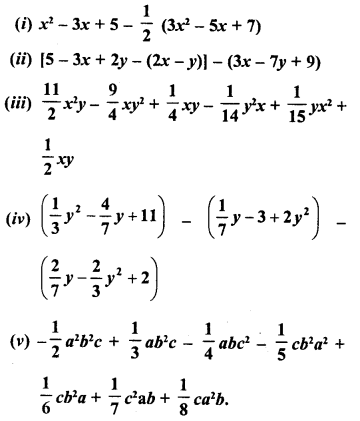RD Sharma Class 8 Solutions Chapter 6 Algebraic Expressions and IdentitiesEx 6.2 20