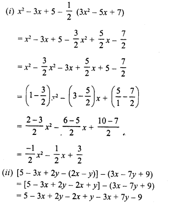 RD Sharma Class 8 Solutions Chapter 6 Algebraic Expressions and IdentitiesEx 6.2 21