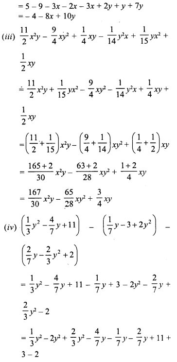 RD Sharma Class 8 Solutions Chapter 6 Algebraic Expressions and IdentitiesEx 6.2 22