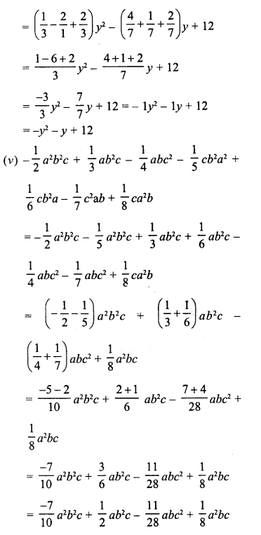 RD Sharma Class 8 Solutions Chapter 6 Algebraic Expressions and IdentitiesEx 6.2 23
