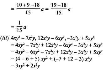 RD Sharma Class 8 Solutions Chapter 6 Algebraic Expressions and IdentitiesEx 6.2 4