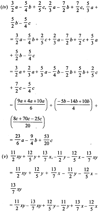 RD Sharma Class 8 Solutions Chapter 6 Algebraic Expressions and IdentitiesEx 6.2 5