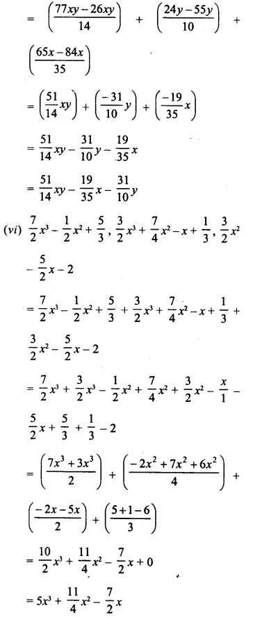 RD Sharma Class 8 Solutions Chapter 6 Algebraic Expressions and IdentitiesEx 6.2 6