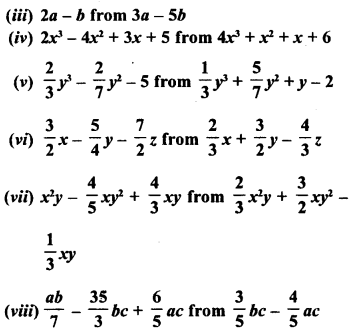 RD Sharma Class 8 Solutions Chapter 6 Algebraic Expressions and IdentitiesEx 6.2 7