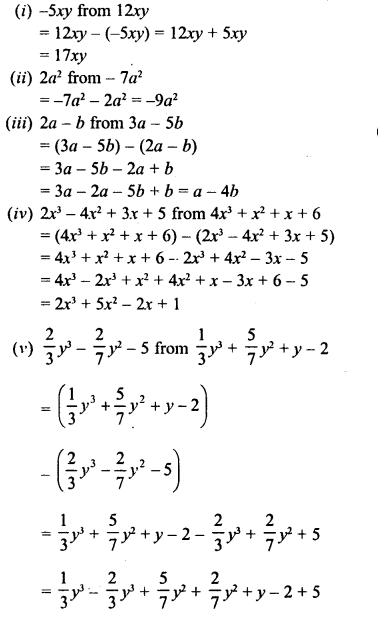 RD Sharma Class 8 Solutions Chapter 6 Algebraic Expressions and IdentitiesEx 6.2 8