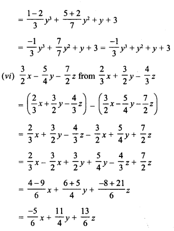 RD Sharma Class 8 Solutions Chapter 6 Algebraic Expressions and IdentitiesEx 6.2 9
