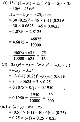 RD Sharma Class 8 Solutions Chapter 6 Algebraic Expressions and IdentitiesEx 6.4 16