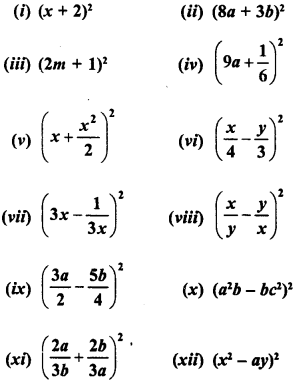 RD Sharma Class 8 Solutions Chapter 6 Algebraic Expressions and IdentitiesEx 6.6 1