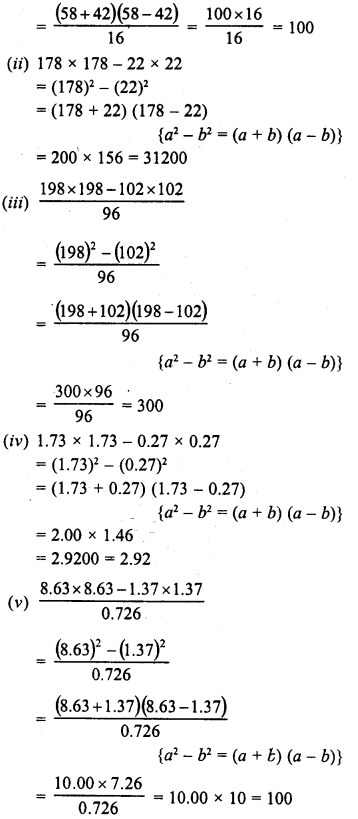 RD Sharma Class 8 Solutions Chapter 6 Algebraic Expressions and IdentitiesEx 6.6 10