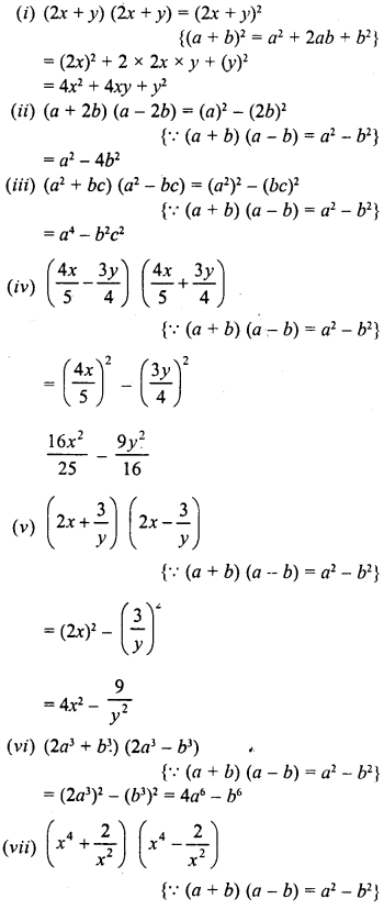 RD Sharma Class 8 Solutions Chapter 6 Algebraic Expressions and IdentitiesEx 6.6 6