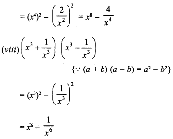 RD Sharma Class 8 Solutions Chapter 6 Algebraic Expressions and IdentitiesEx 6.6 7