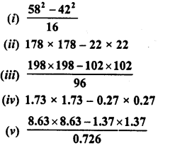 RD Sharma Class 8 Solutions Chapter 6 Algebraic Expressions and IdentitiesEx 6.6 8