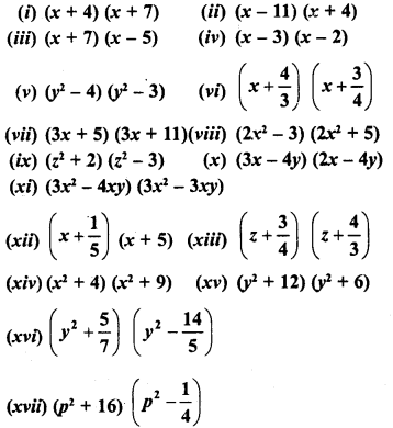 RD Sharma Class 8 Solutions Chapter 6 Algebraic Expressions and IdentitiesEx 6.7 1