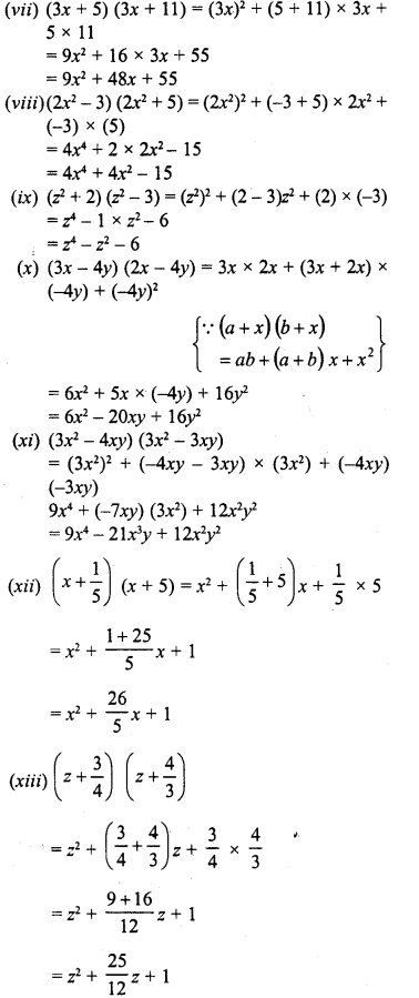 RD Sharma Class 8 Solutions Chapter 6 Algebraic Expressions and IdentitiesEx 6.7 3