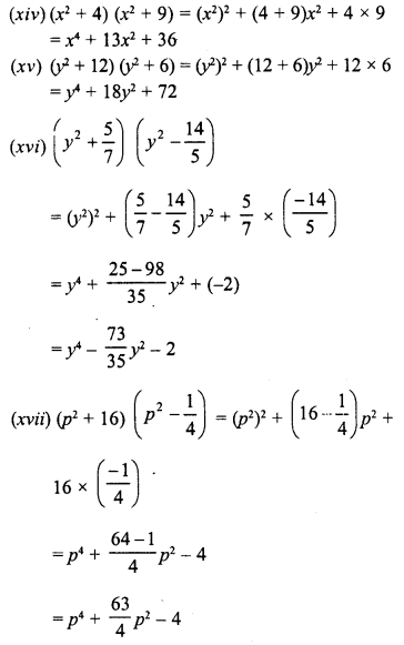 RD Sharma Class 8 Solutions Chapter 6 Algebraic Expressions and IdentitiesEx 6.7 4