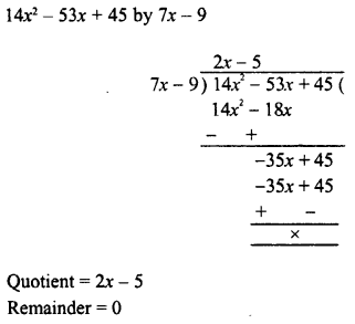 RD Sharma Class 8 Solutions Chapter 8 Division of Algebraic ExpressionsEx 8.4 10