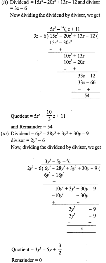 RD Sharma Class 8 Solutions Chapter 8 Division of Algebraic ExpressionsEx 8.4 29