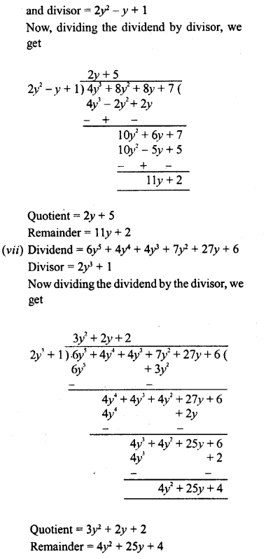 RD Sharma Class 8 Solutions Chapter 8 Division of Algebraic ExpressionsEx 8.4 33