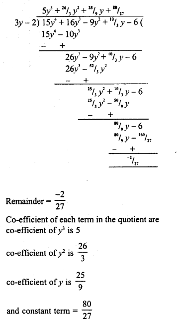 RD Sharma Class 8 Solutions Chapter 8 Division of Algebraic ExpressionsEx 8.4 35