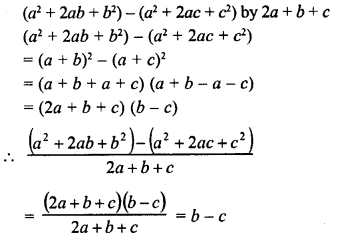 RD Sharma Class 8 Solutions Chapter 8 Division of Algebraic ExpressionsEx 8.6 5