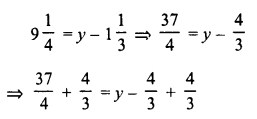 RD Sharma Class 8 Solutions Chapter 9 Linear Equations in One VariableEx 9.1 1