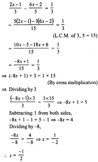 RD Sharma Class 8 Solutions Chapter 9 Linear Equations in One VariableEx 9.1 13