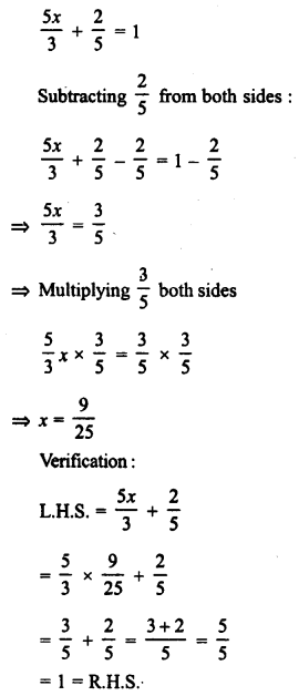 RD Sharma Class 8 Solutions Chapter 9 Linear Equations in One VariableEx 9.1 4