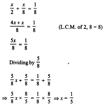 RD Sharma Class 8 Solutions Chapter 9 Linear Equations in One VariableEx 9.1 6