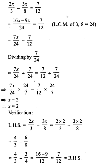 RD Sharma Class 8 Solutions Chapter 9 Linear Equations in One VariableEx 9.1 8