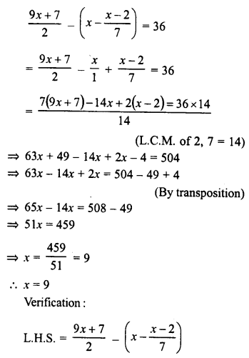 RD Sharma Class 8 Solutions Chapter 9 Linear Equations in One VariableEx 9.2 27
