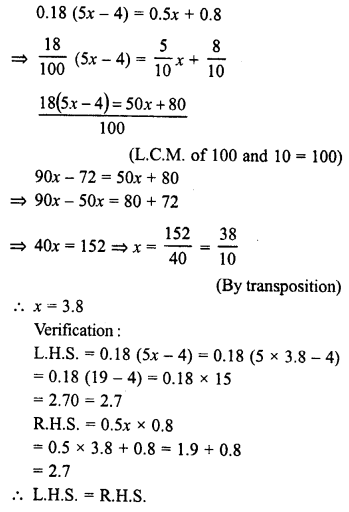 RD Sharma Class 8 Solutions Chapter 9 Linear Equations in One VariableEx 9.2 29