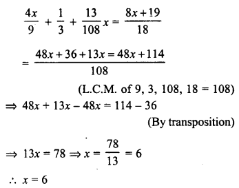 RD Sharma Class 8 Solutions Chapter 9 Linear Equations in One VariableEx 9.2 34