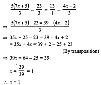 RD Sharma Class 8 Solutions Chapter 9 Linear Equations in One VariableEx 9.2 40