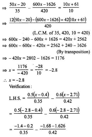 RD Sharma Class 8 Solutions Chapter 9 Linear Equations in One VariableEx 9.2 48