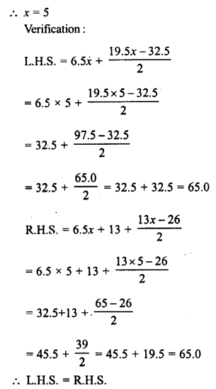 RD Sharma Class 8 Solutions Chapter 9 Linear Equations in One VariableEx 9.2 52